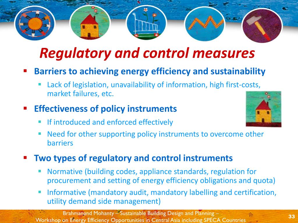 Barriers to achieving energy efficiency and sustainability