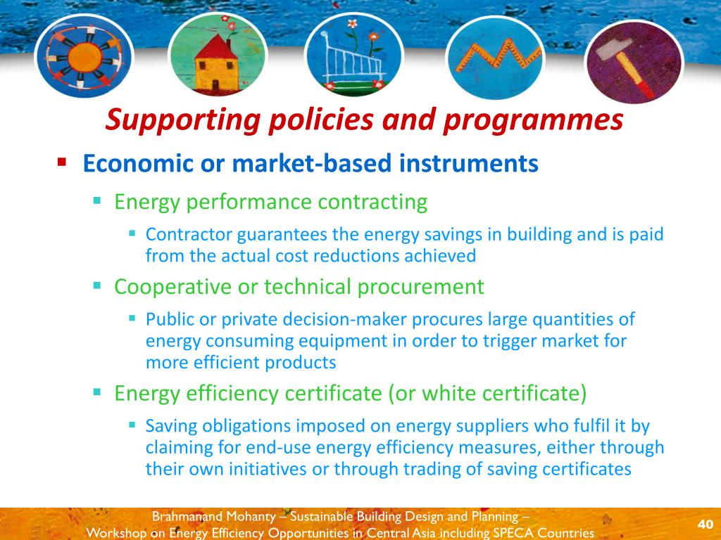 Economic or market-based instruments