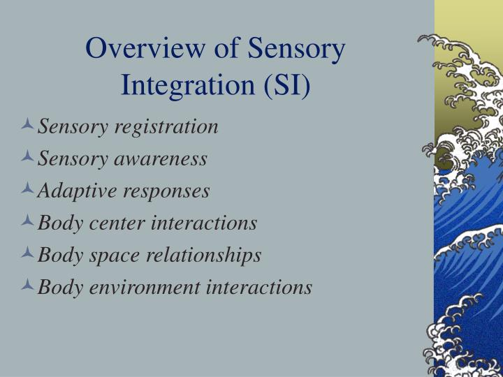 Overview of sensory integration si