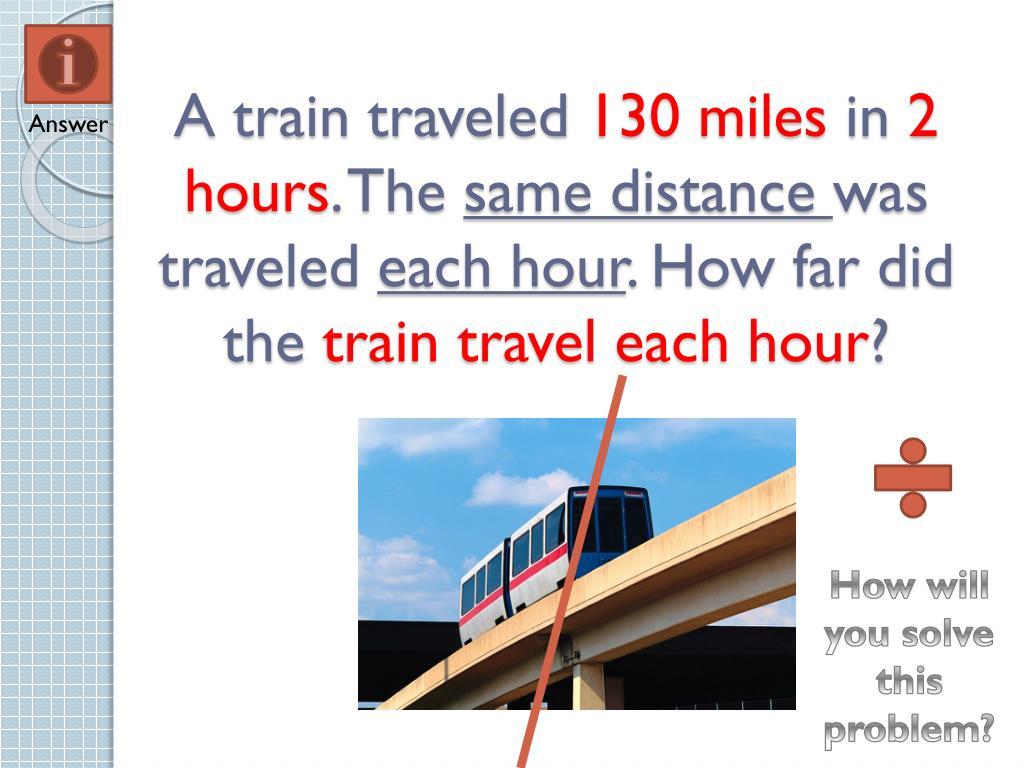 A train traveled