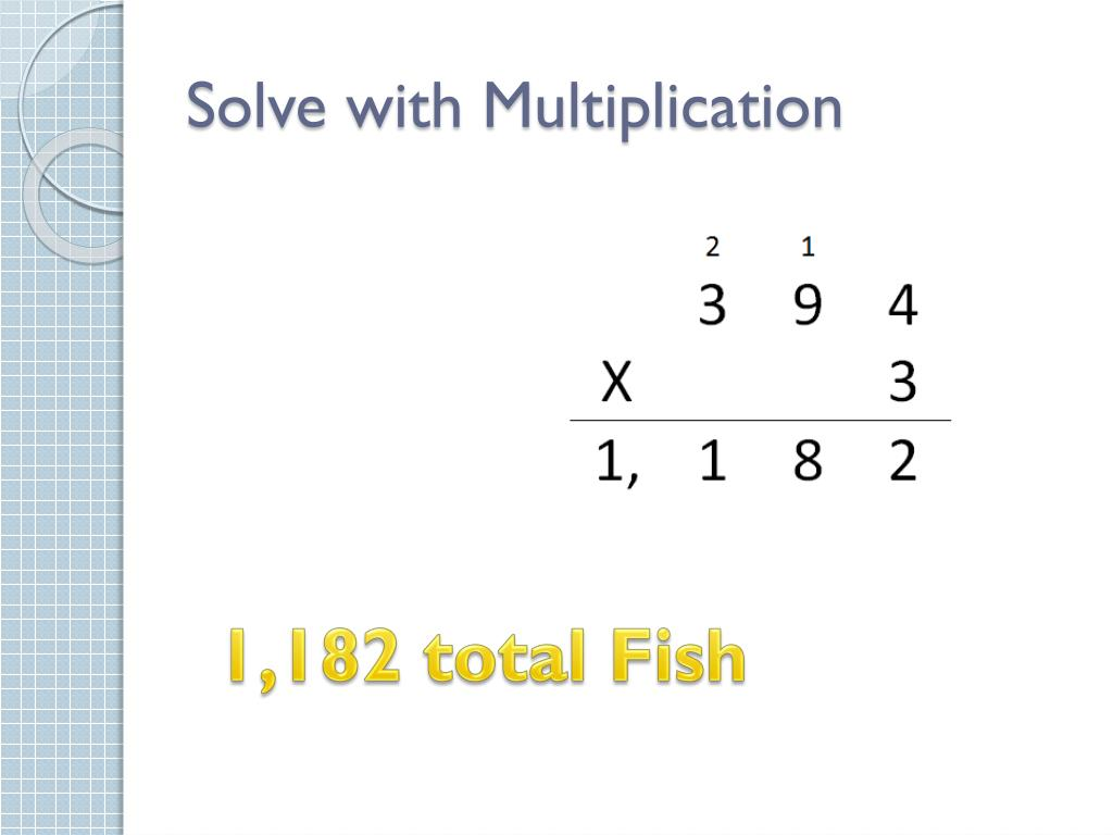 how to solve a multiplication problem