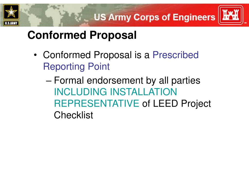 Conformed Proposal