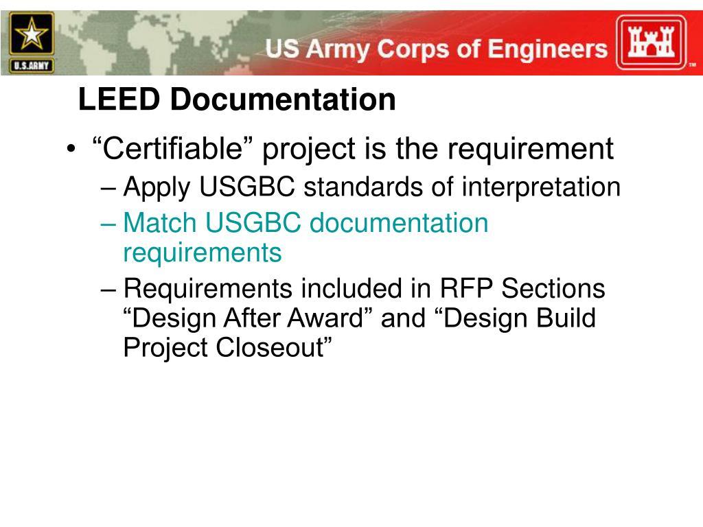 LEED Documentation