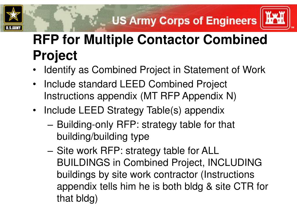RFP for Multiple Contactor Combined Project