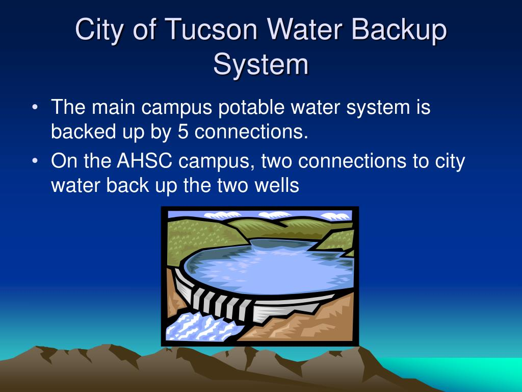 City of Tucson Water Backup System