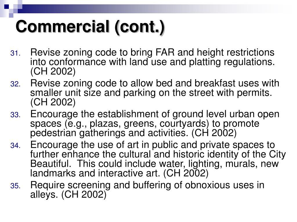 Commercial (cont.)
