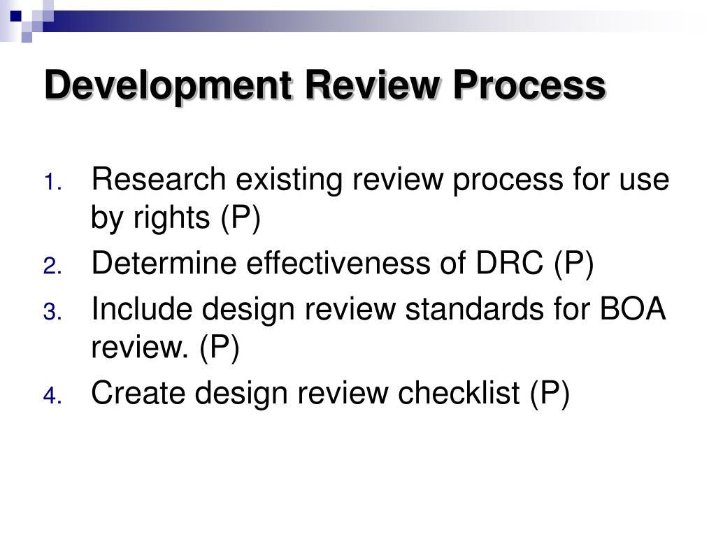 Development Review Process