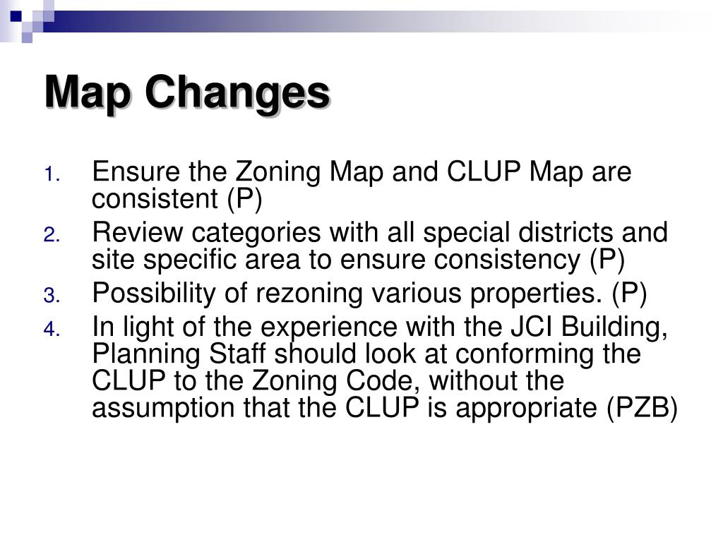 Map Changes