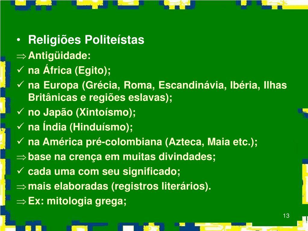 Religiões Politeístas