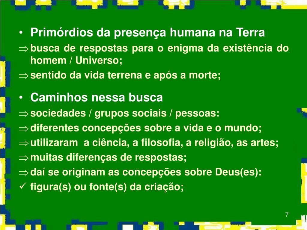 Primórdios da presença humana na Terra