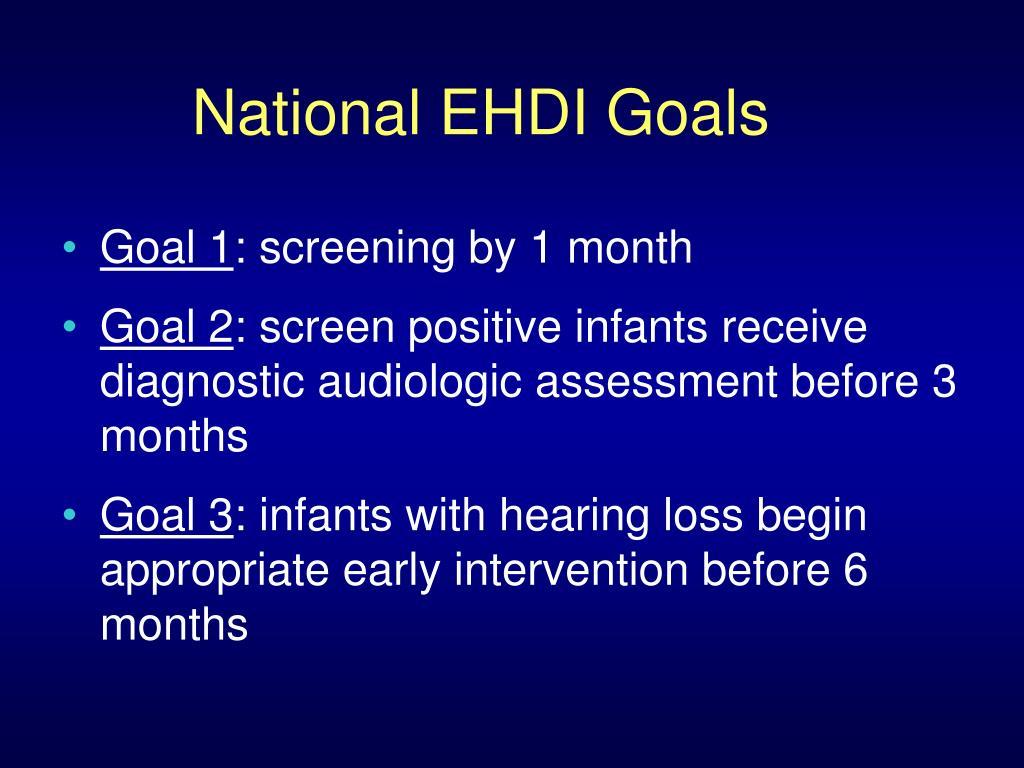 National EHDI Goals