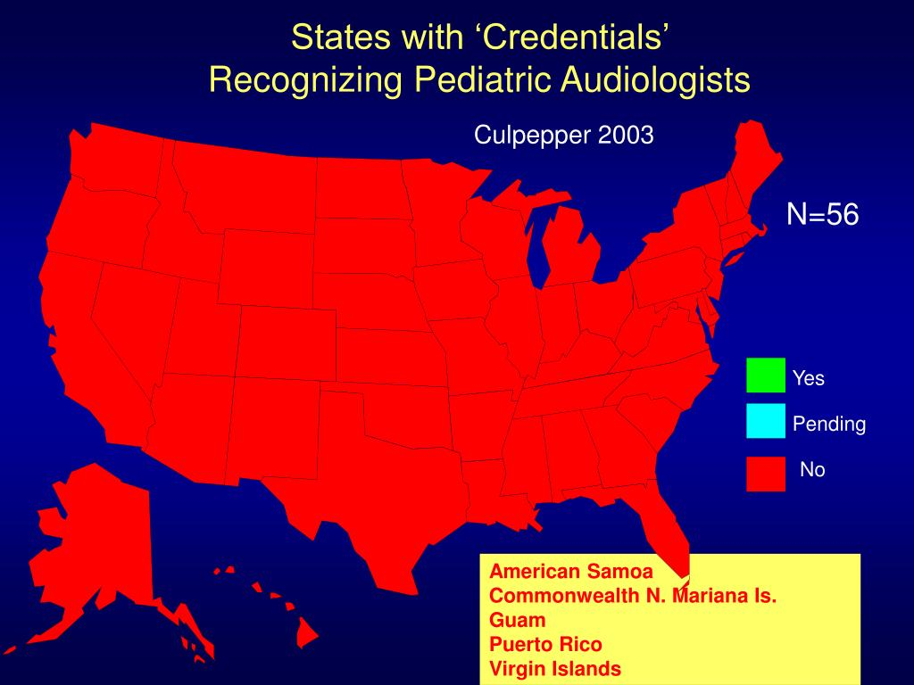 States with 'Credentials'