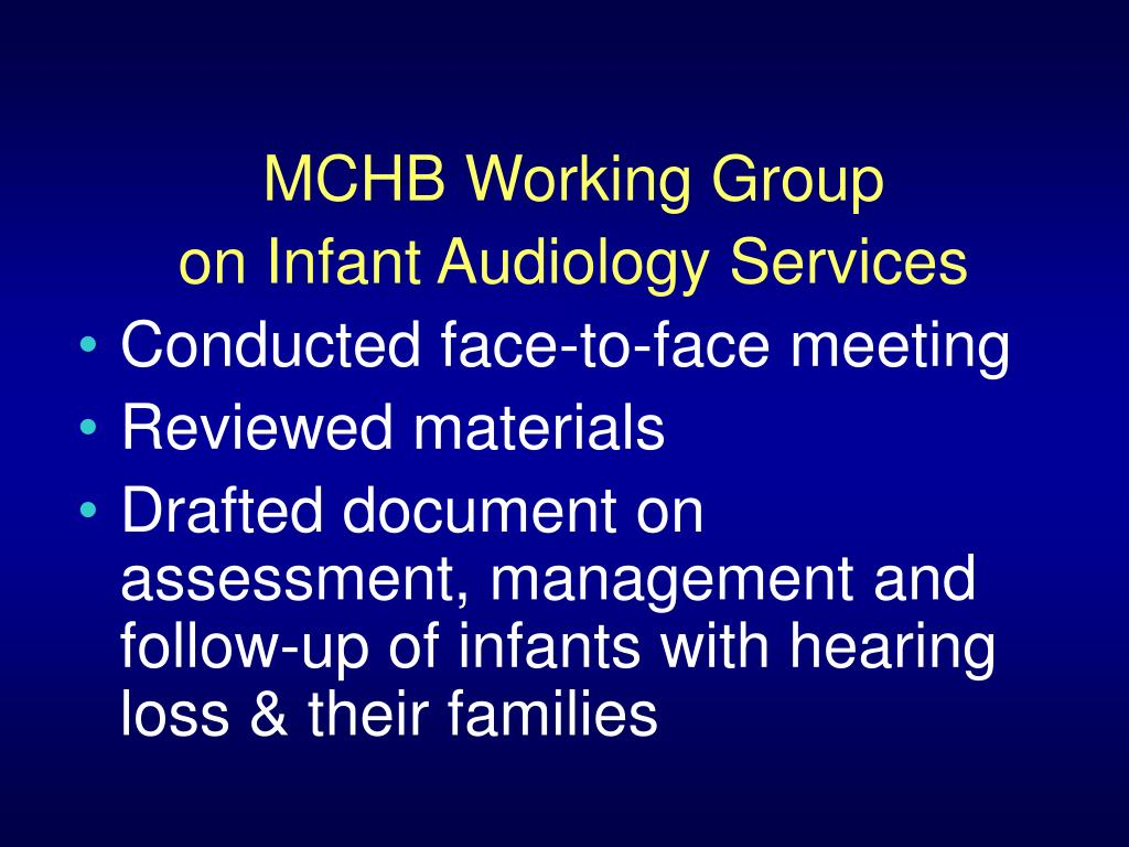 MCHB Working Group