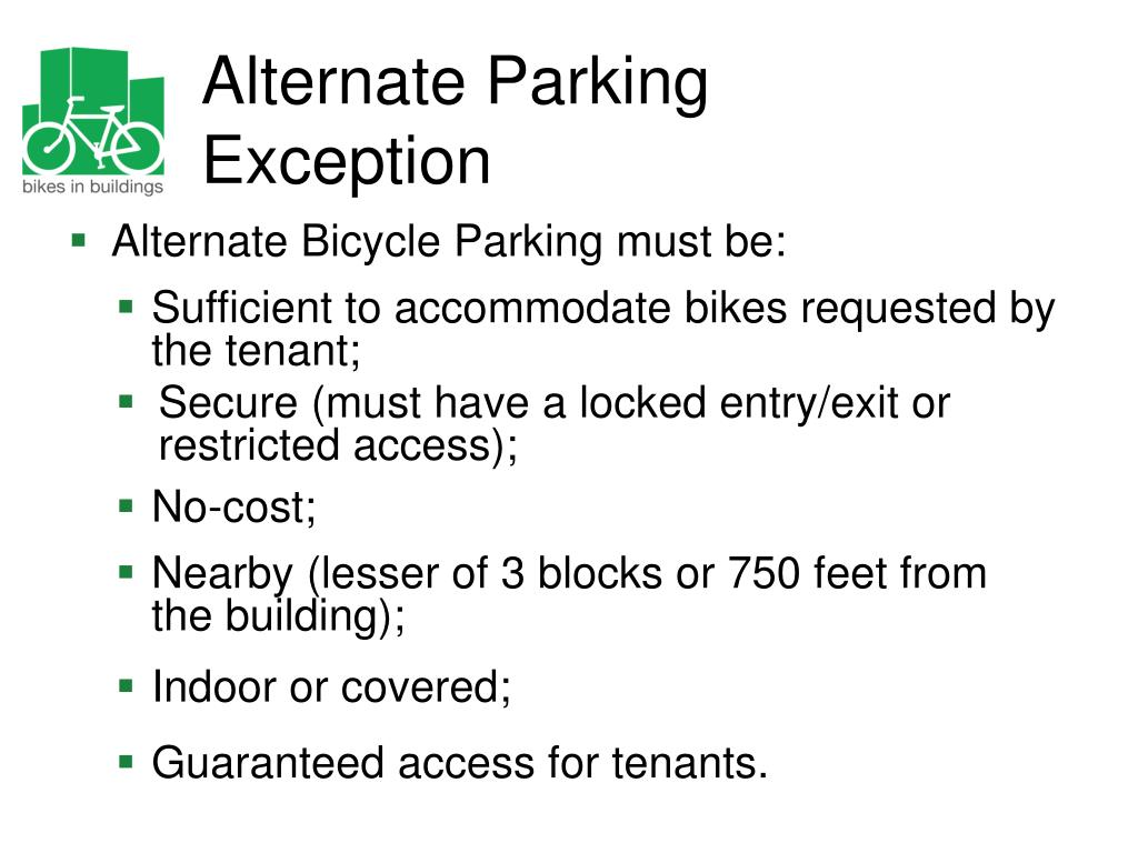 Alternate Parking Exception