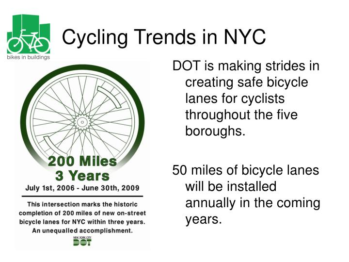 Cycling trends in nyc3