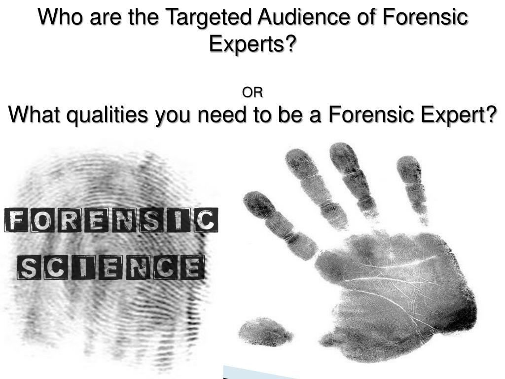 Who are the Targeted Audience of Forensic Experts?
