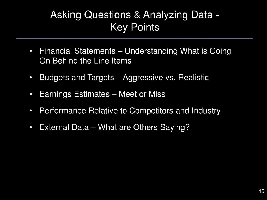 Asking Questions & Analyzing Data -