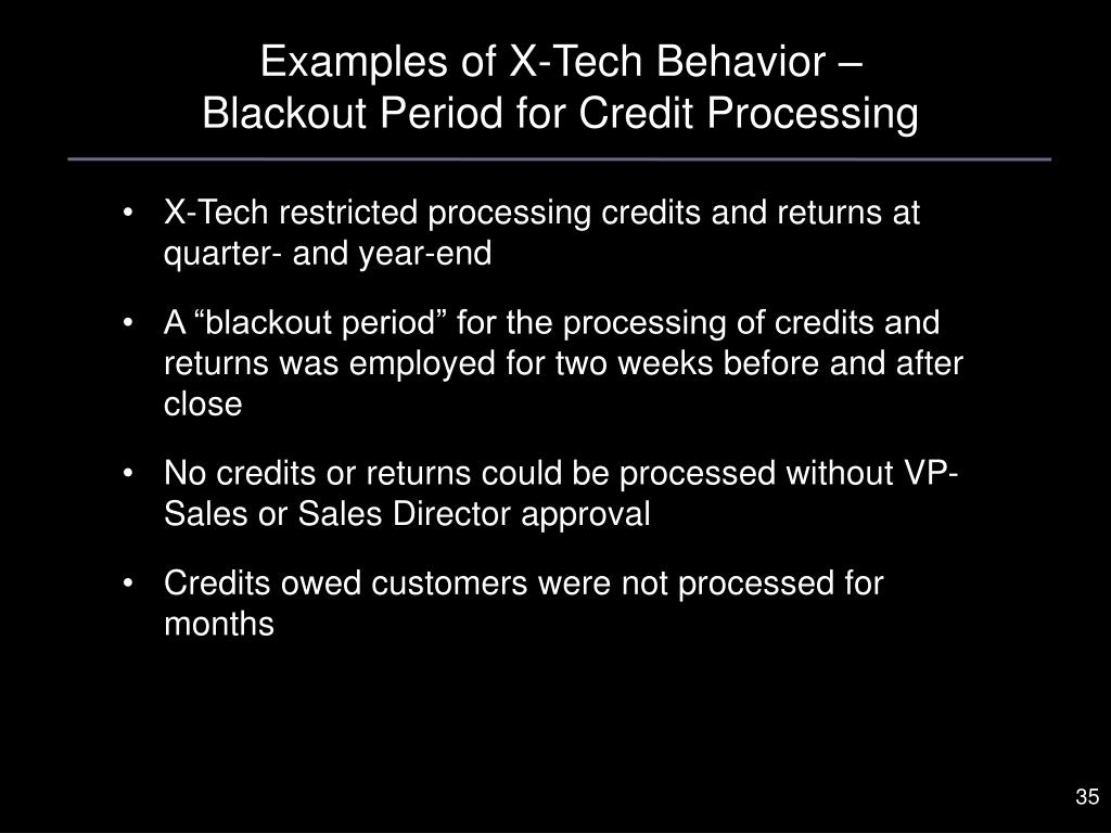Examples of X-Tech Behavior –