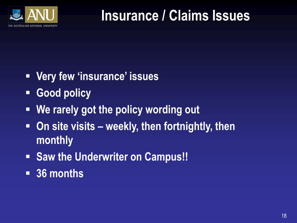 Insurance / Claims Issues