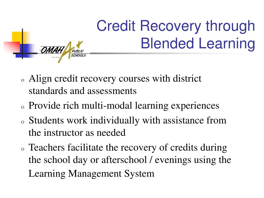 Credit Recovery through