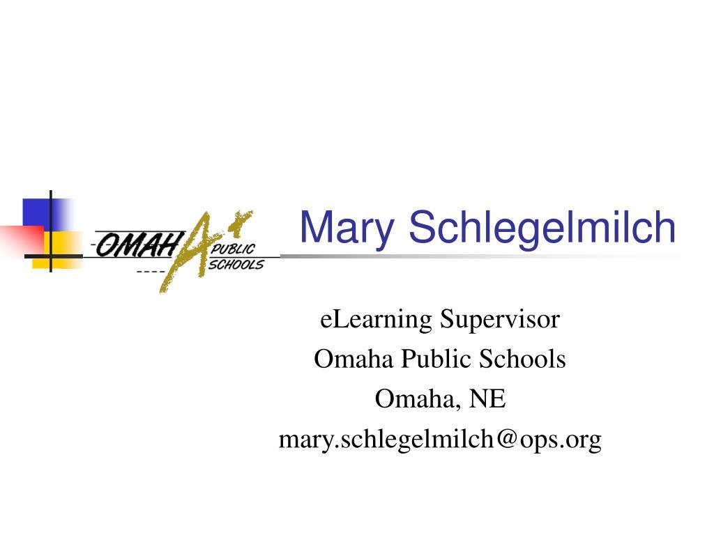 Mary Schlegelmilch