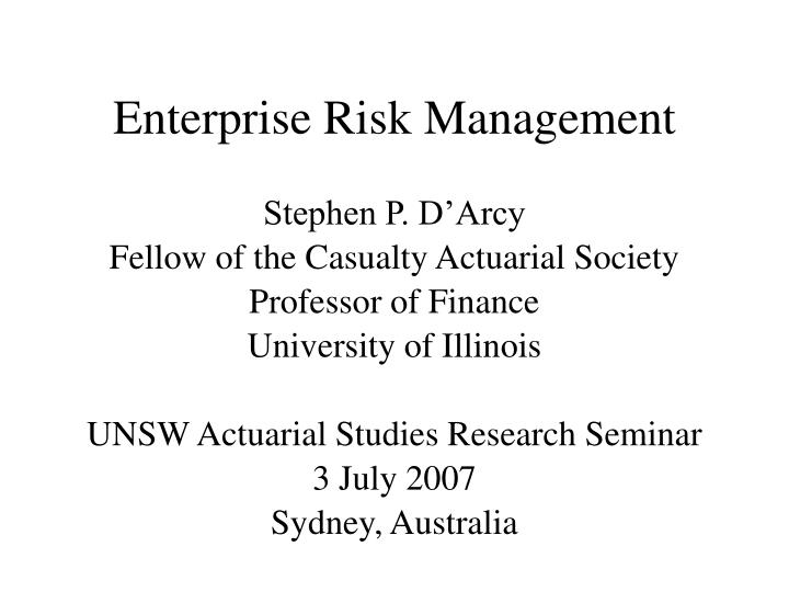 Enterprise risk management l.jpg