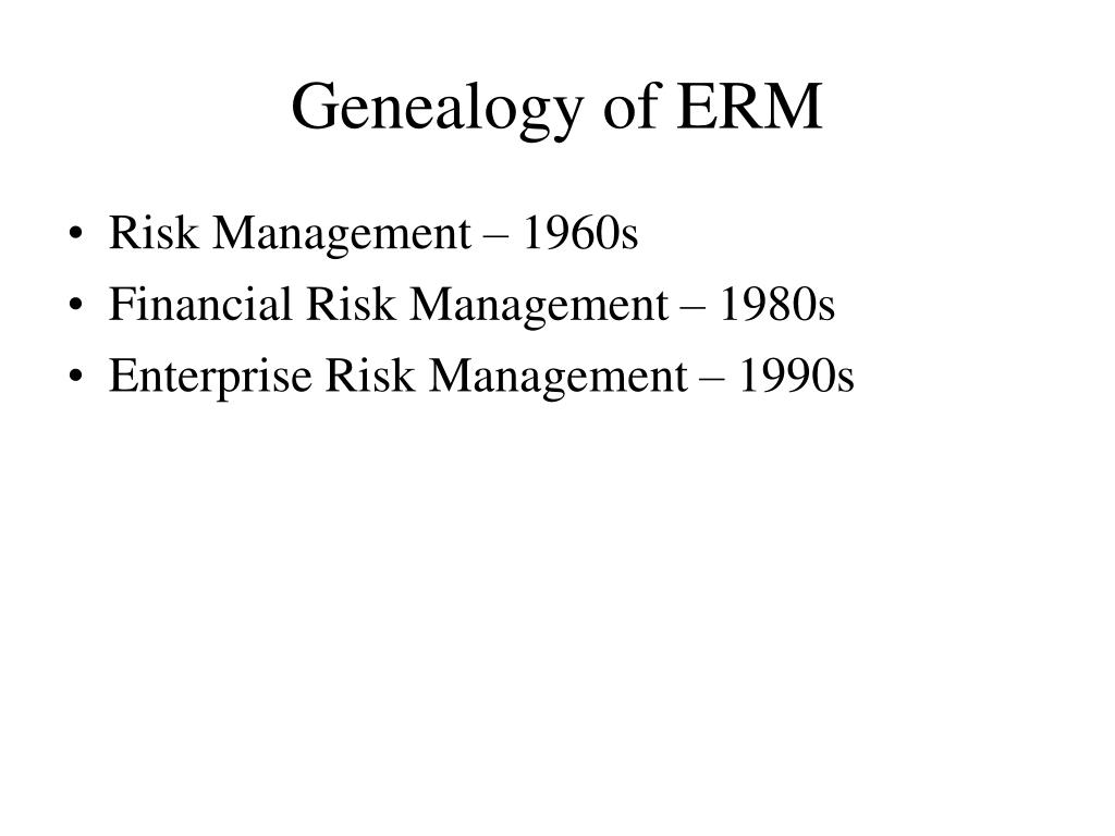 Genealogy of ERM