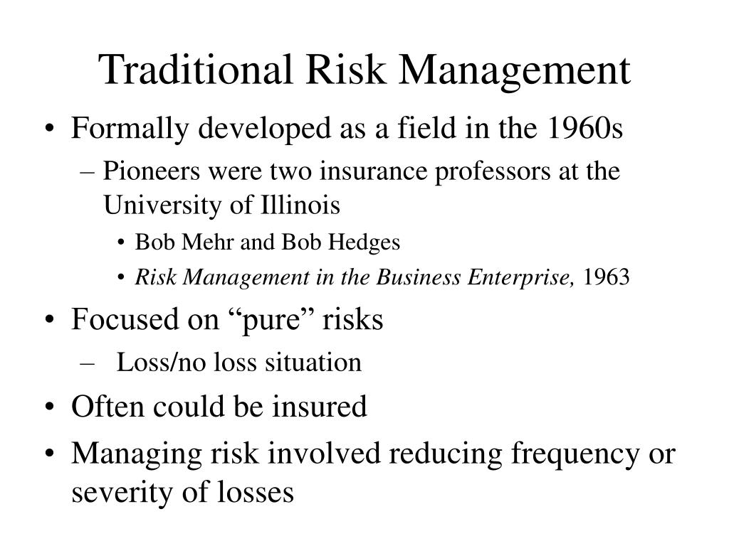 Traditional Risk Management