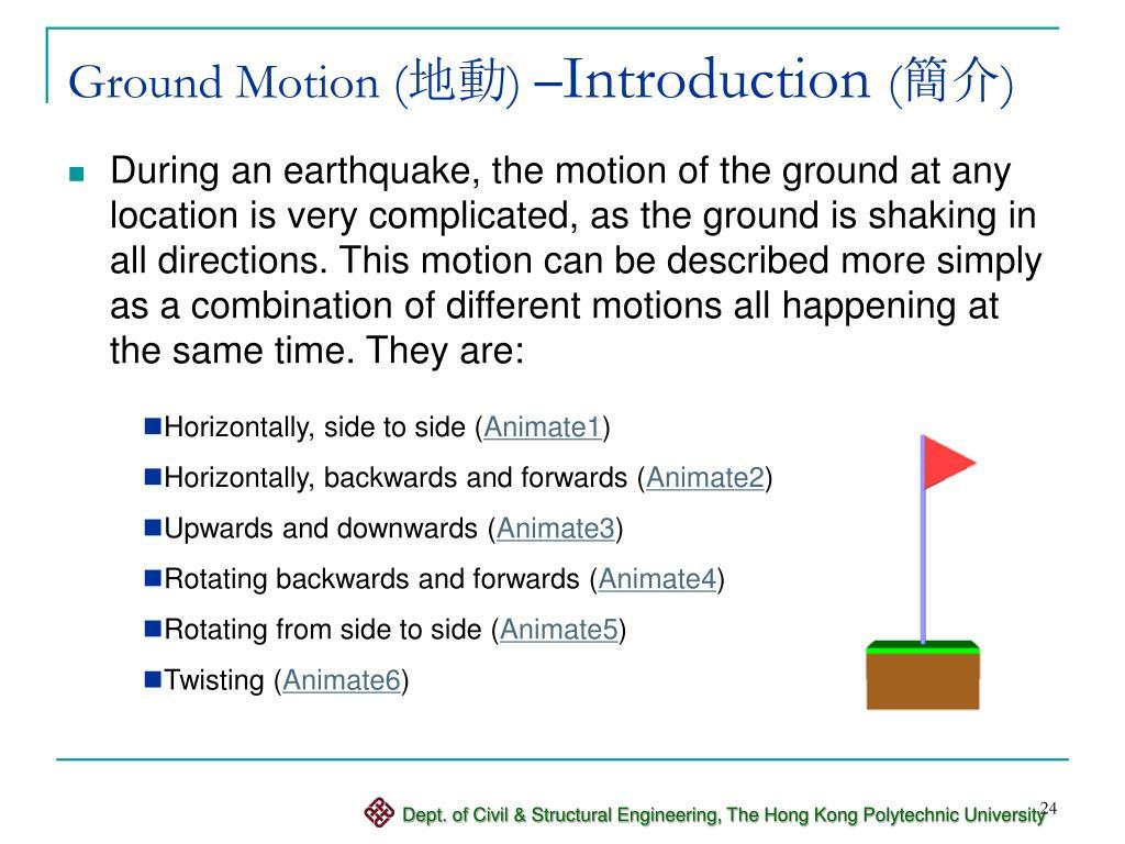 Ground Motion (