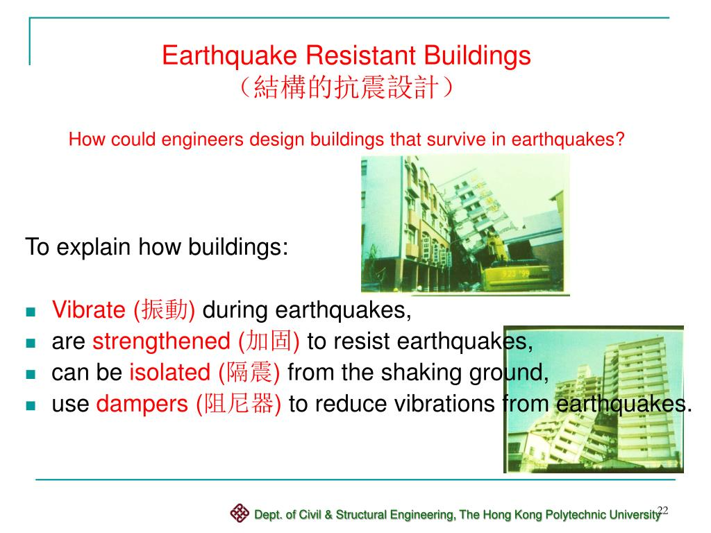 Earthquake Resistant Buildings