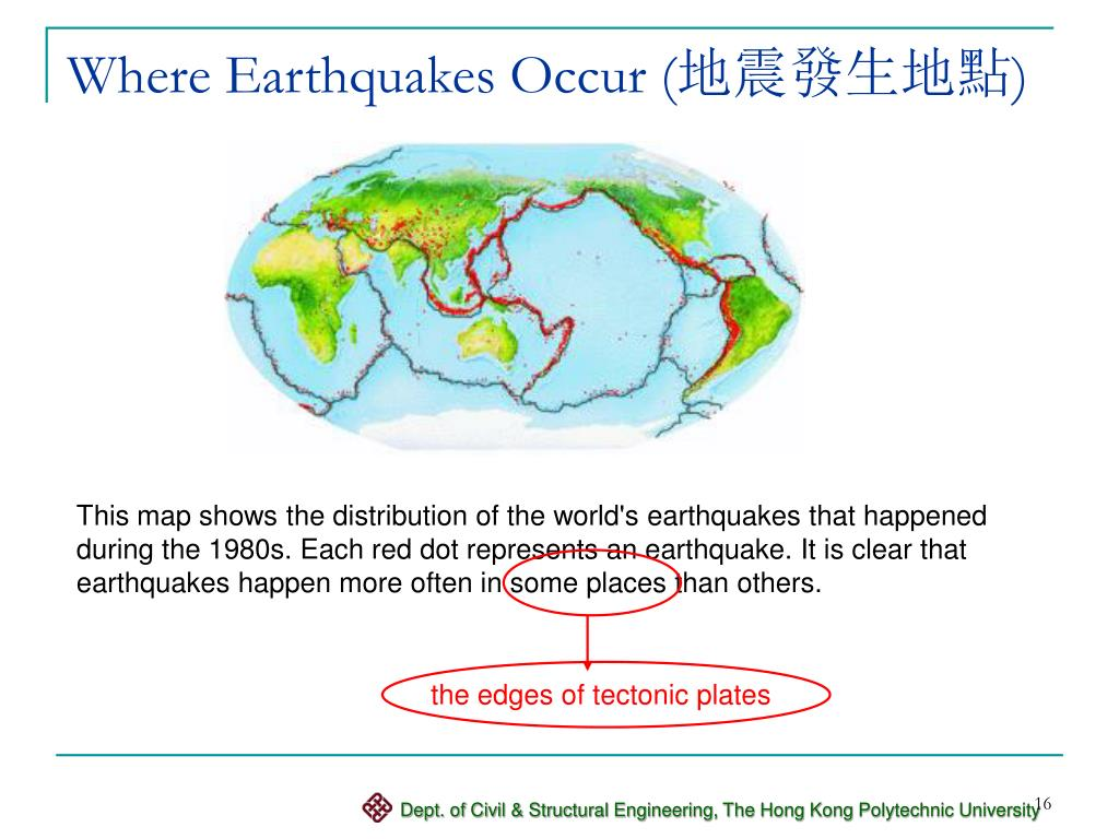 Where Earthquakes Occur (