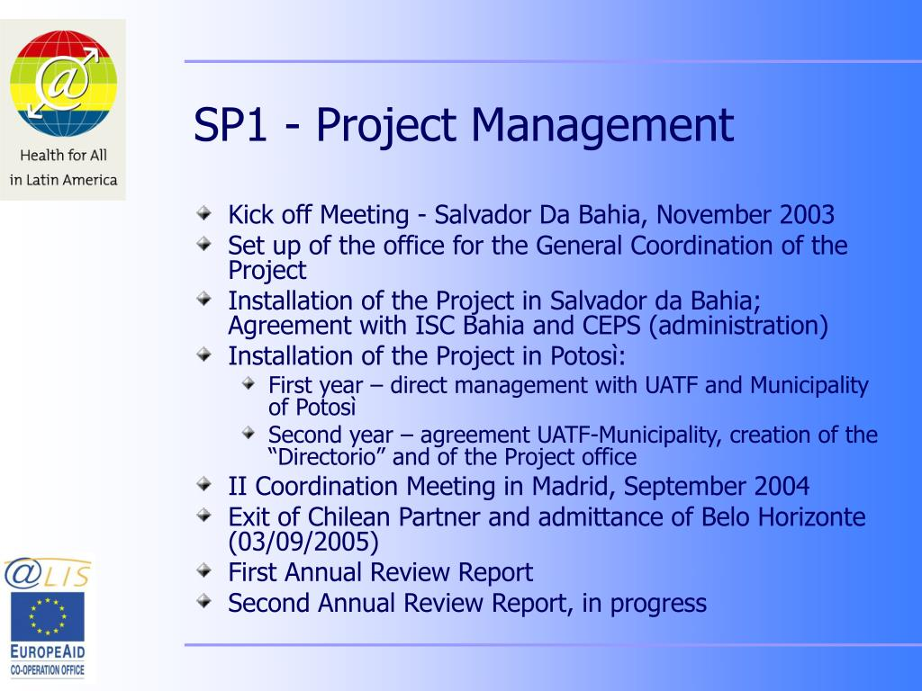 SP1 - Project Management