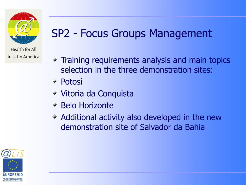 SP2 - Focus Groups Management