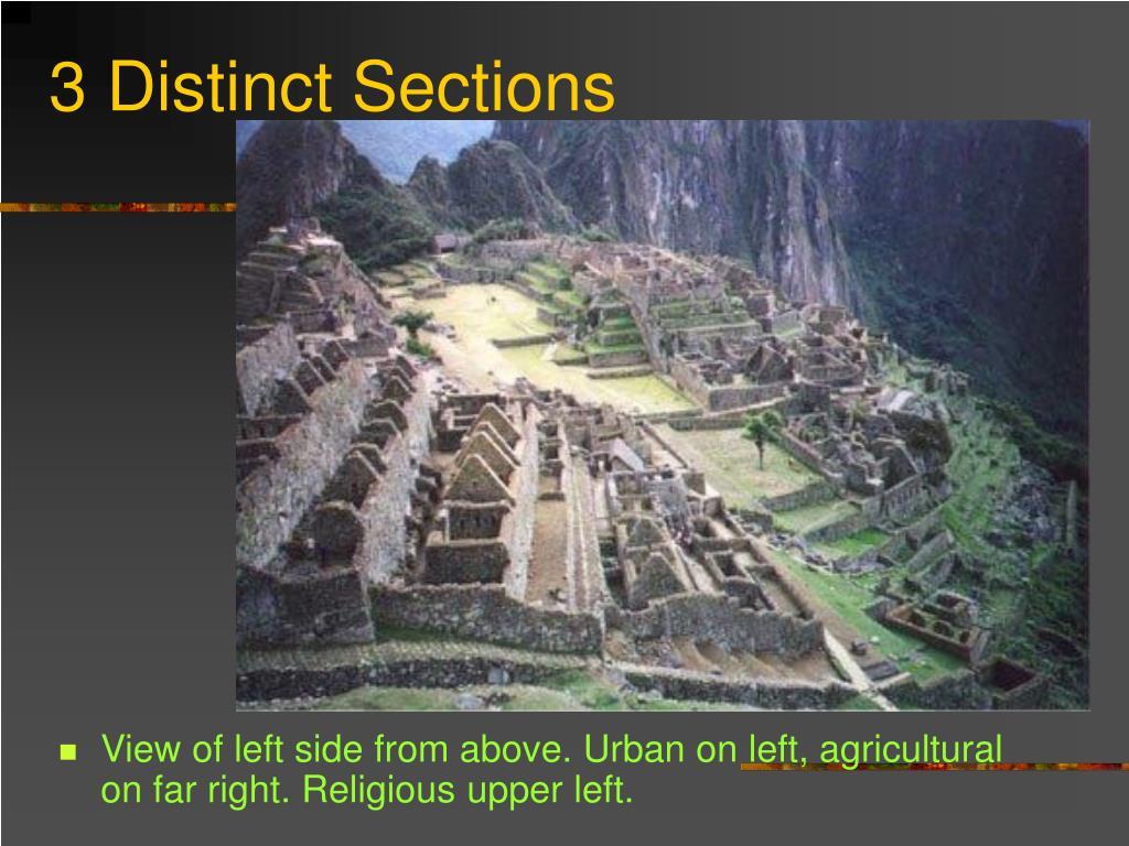 3 Distinct Sections