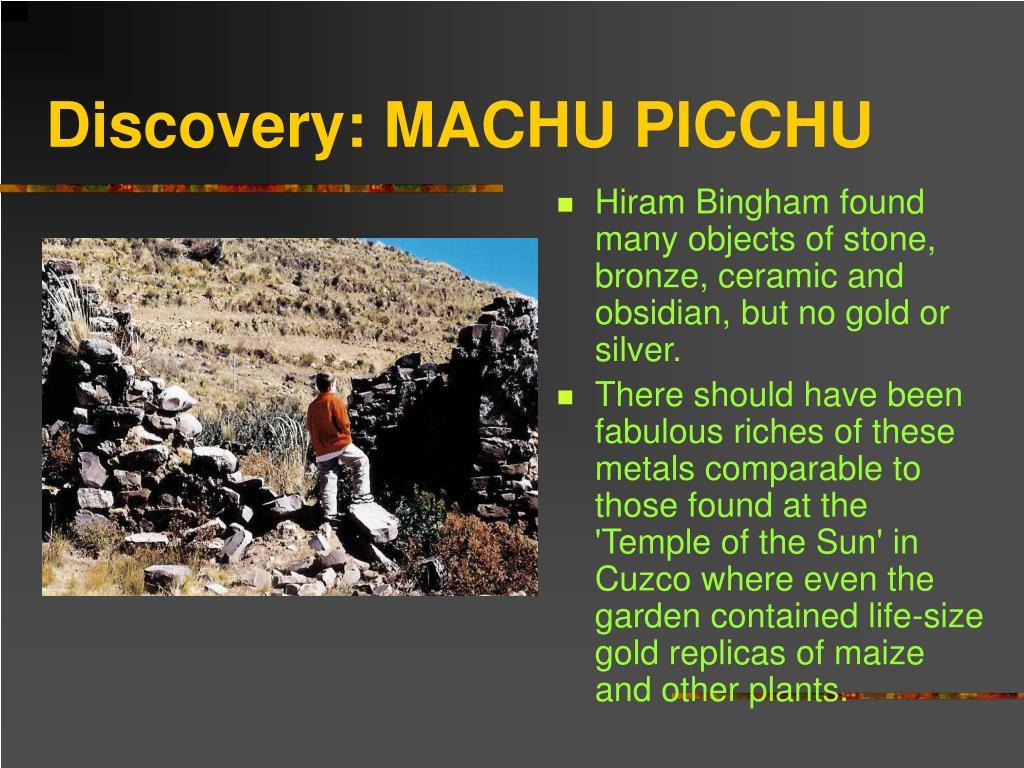 Discovery: MACHU PICCHU