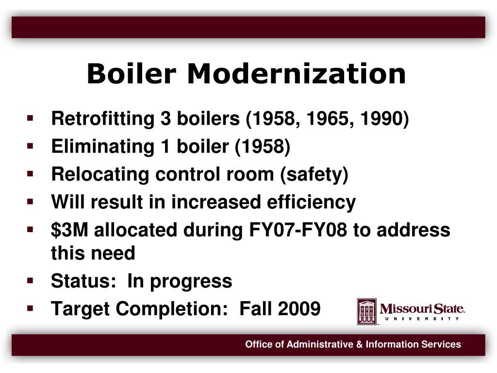 Boiler Modernization