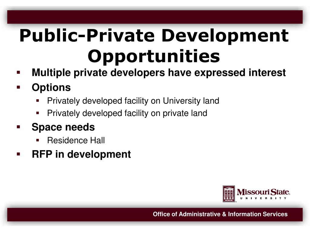 Public-Private Development Opportunities