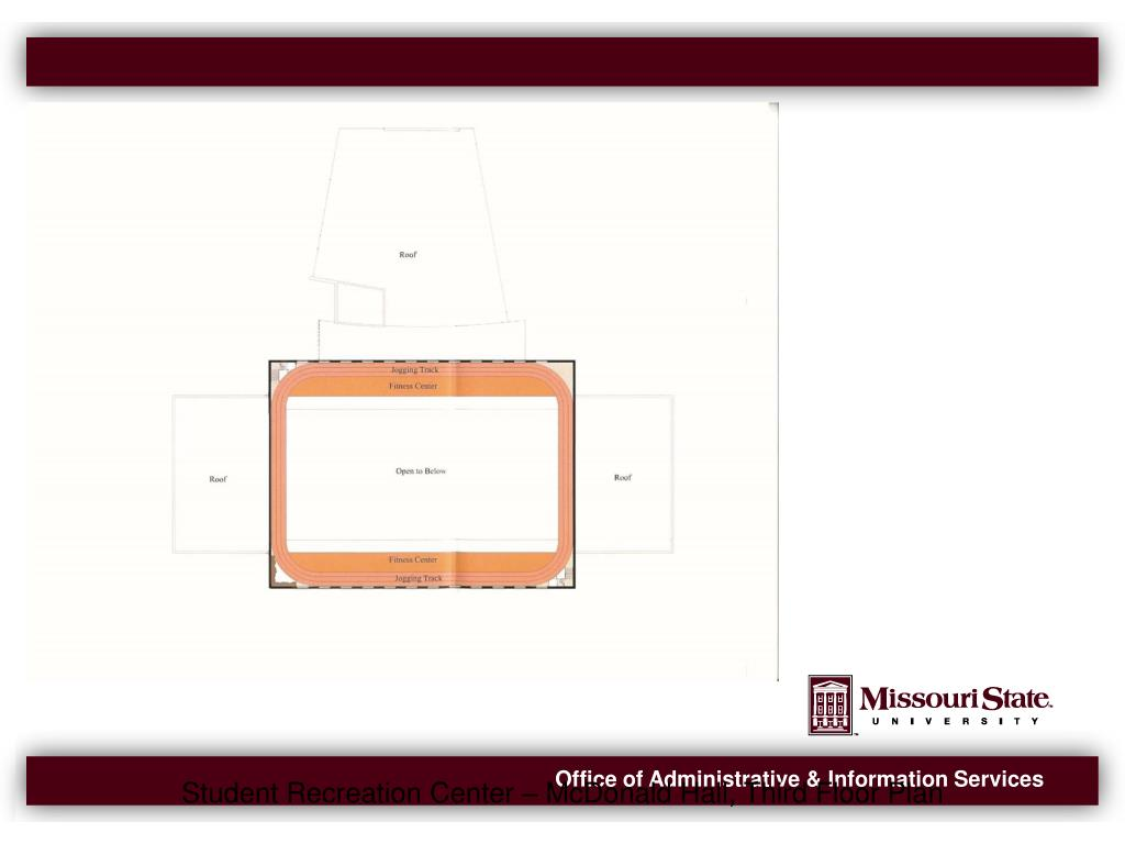 Student Recreation Center – McDonald Hall, Third Floor Plan