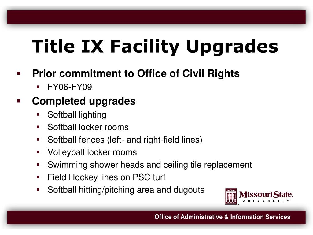 Title IX Facility Upgrades