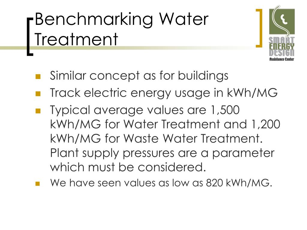 Benchmarking Water Treatment