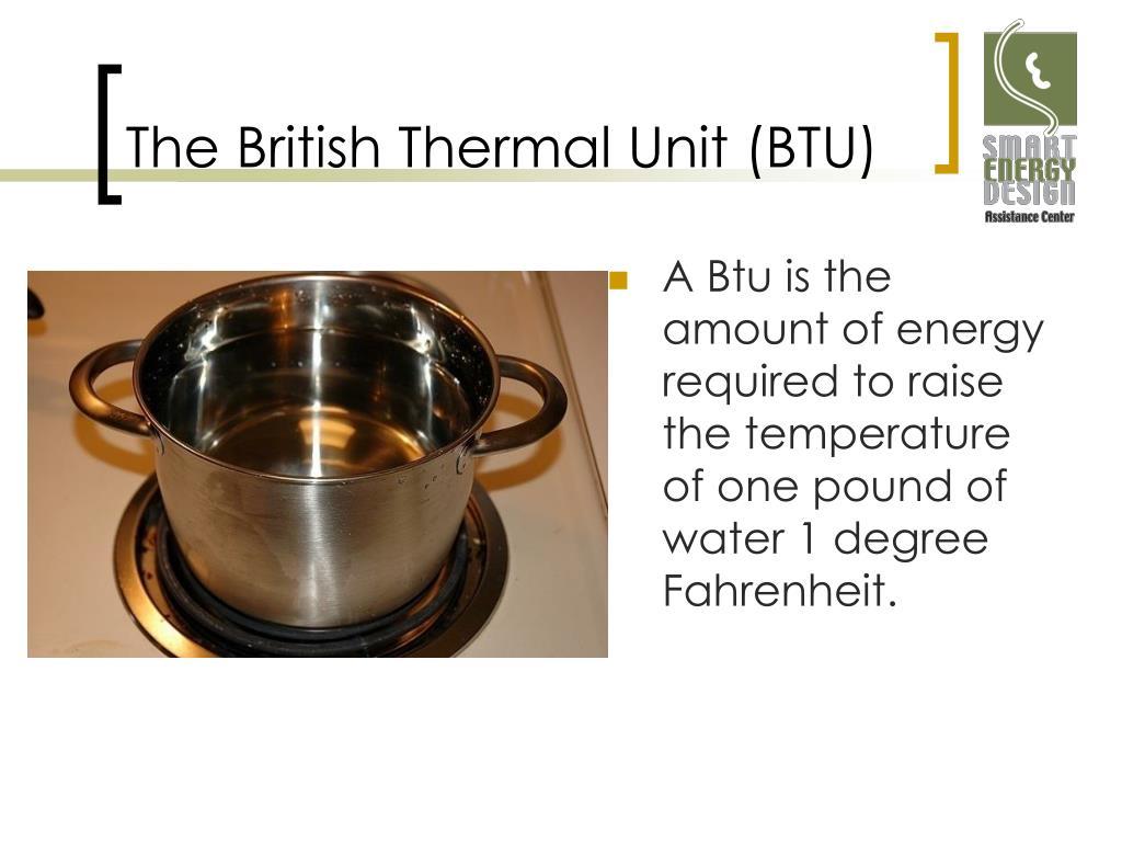 The British Thermal Unit (BTU)