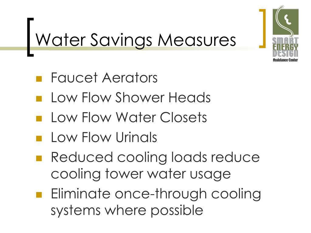 Water Savings Measures
