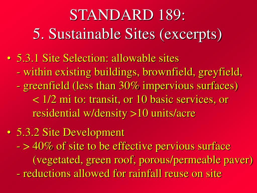 STANDARD 189: