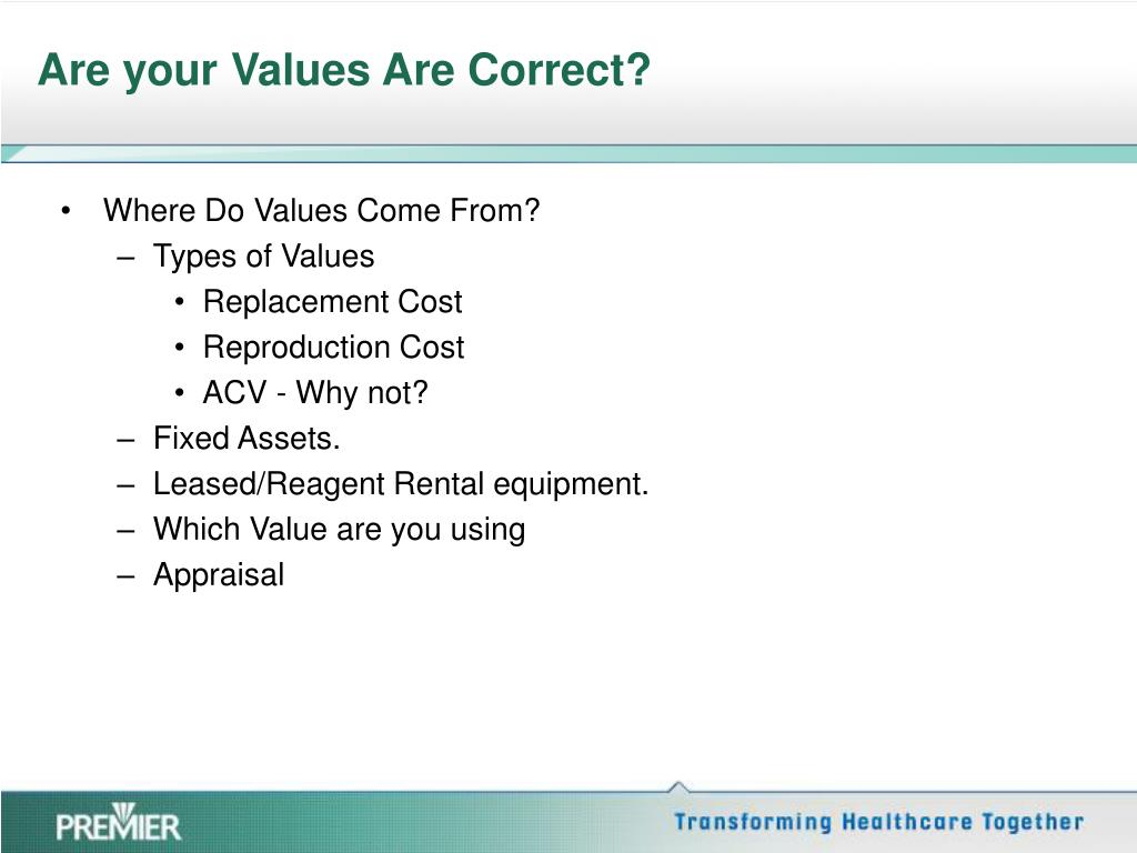 Are your Values Are Correct?