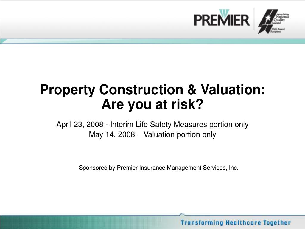 Property Construction & Valuation: