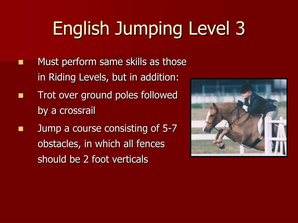 English Jumping Level 3