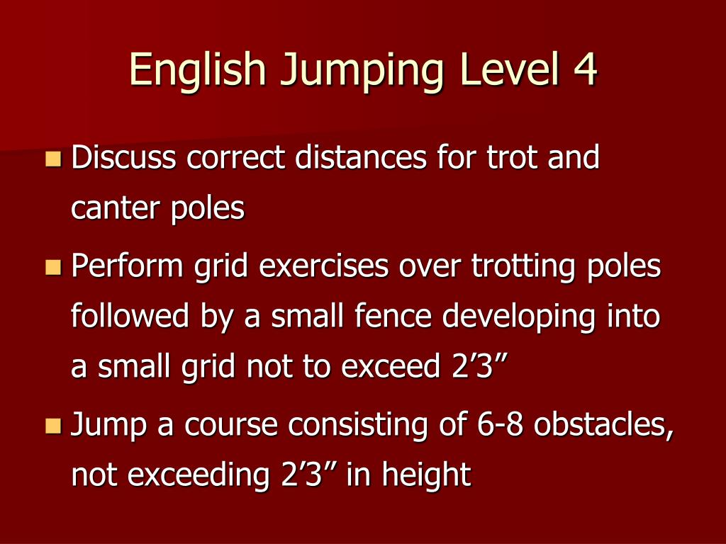 English Jumping Level 4