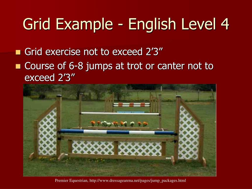 Grid Example - English Level 4
