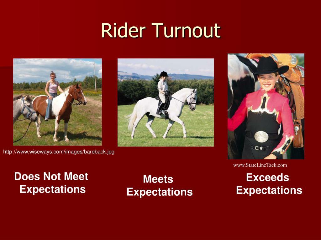 Rider Turnout