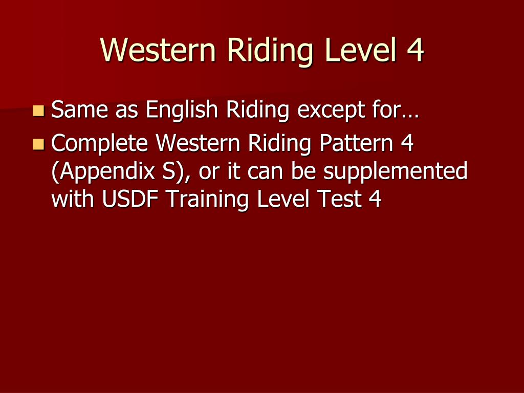 Western Riding Level 4